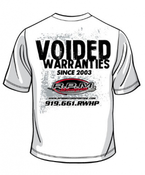 Voided Warranties Tee shirt (White)