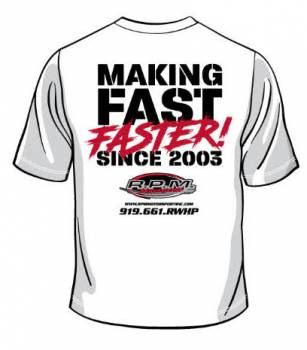 Making Fast Faster Tee Shirt (White)